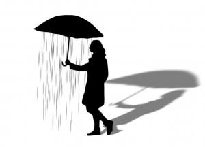 regenrausch silhouette black schatten